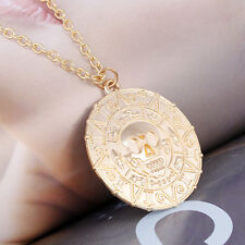 Pirates Skull Coin Pendant Necklace Maxi Necklace Forwomen Men Fashion Jewelry