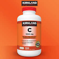 Kirkland Signature Vitamin C 1000mg 500 count (with Rose Hips)