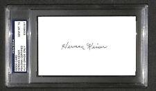 "Herman Keiser ""1946 Masters Winner"" SIGNED AUTOGRAPHED 3X5 PSA/DNA Grade Mint 10"