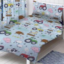 Granja Animales Tractores Conjunto de funda nórdica individual cama para niño