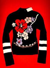H&M PULLOVER STRICK ROCKABILLY ROMANTIK BoHo BLUMEN S 36 NEU mit ETIKETT!! TOP!!