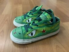Converse One Star LIMITED EDITION Green Dragon Lace Up Toddler Shoes Size 10 EUC