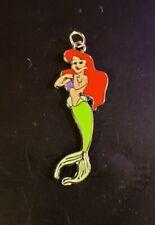 """Disney Ariel - Enamel Style #2 Set - 24"""" Silver Snake Chain - Lobster Clasp"""