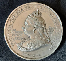 More details for vintage 1897 victoria diamond jubilee 76 mm british empire medallion by spinks