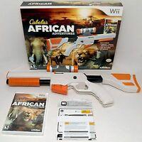 NEW Wii/Wii-U Cabela's African Adventures Game w/Top Shot Elite Rifle Gun Bundle