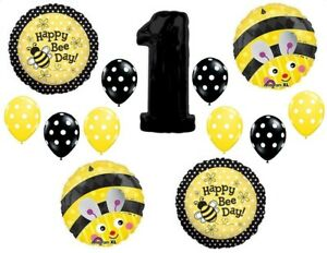 BUMBLEBEE 1st FIRST BIRTHDAY PARTY BALLOONS Decorations Supplies Honey Bee #1