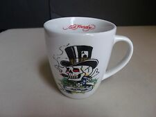 Ed Hardy Tattoo Mug Death Or Glory Top Hat Skull Bones Black Panther Ace Dice