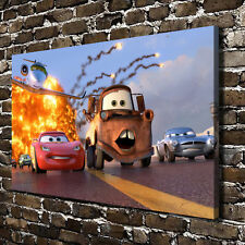 "Disney cartoon Cars HD Canvas Print 20""x32"" Home Decor Painting Wall Art Picture"