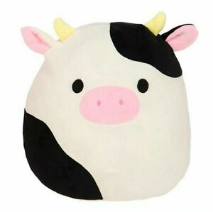 Squishmallows Connor The Cow Plush Toy Cuddle & Squeeze Super Soft Doll KId Gift