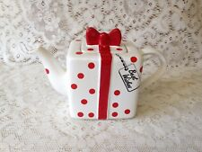 Price Kensington Best Wishes Teapot ~ White/Red Polka Dot Hand Painted Tea Pot