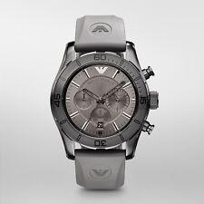 ee7846c6d26 Emporio Armani Sport AR5949 Relógio masculino com cronógrafo cinza Dial  Grey Rubber Band