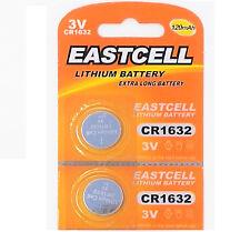 2 x CR1632 3V Lithium Batterie auf (1 Blistercard a 2 Stück ) EASTCELL