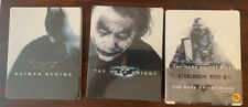Batman Begins Dark Knight Rises Trilogy Blu Ray SteelBook NEW RARE White Cover