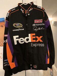 Denny Hamlin #11 Large NASCAR Fed Ex Jacket JH Design Never Worn!