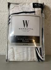 Wamsutta® Hotel Micro Cotton King Pillow Sham in white Triple Baratta Stitch