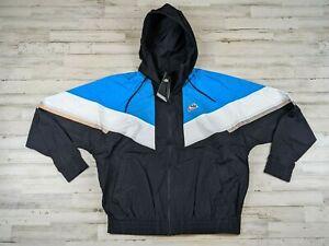 Nike Sportswear Blue white Windrunner Hoodie Jacket Size Mens Medium CZ0781 011