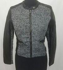 NWT Ashley by 26 International Outerwear Black Motorcycle Jacket Size Medium
