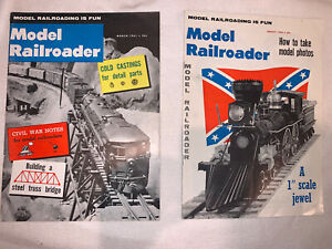 2 Vintage Model Railroader Magazine August 1960 and March 1961