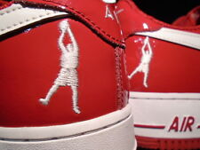 2004 Nike Air Force 1 SHEED LOW RASHEED WALLACE PATENT RED WHITE 306347-611 11