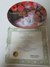 Franklin Mint Collector Plate Everything'S Peachy By Nancy Matthews Coa Kittens