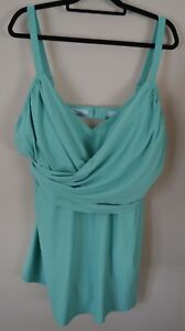 NWT Old Navy Sea Foam Green 3X One Piece Women's Swimsuit Dress Soft Cup Adjust
