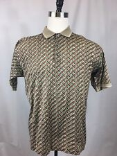 CALLAWAY GOLF 80's TWO PLY POLO SHIRT MENS SIZE LARGE MADE IN ITALY