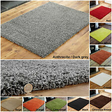 EXTRA LARGE MEDIUM SMALL HIGH QUALITY 5CM THICK MODERN RED GREY CLEARANCE RUGS