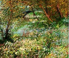Banks of the Seine with Pont de Clichy van Gogh Giclee Canvas or Fine Art Poster