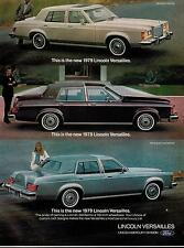 1978  Original PRINT AD for LINCOLN VERSAILLES 1979