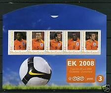 Nederland 2562-E-3 EK voetbal 2008 European Cup soccer block 3 in envelop