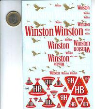 decalque  decals decalcomanie  pour winston hb 1/43 au 1/18