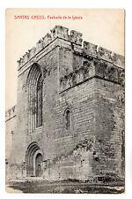 Fachada De La Iglesia Santa Creus Photo Postcard c1905