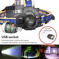 10000Lm XM-L T6 LED USB Headlamp Headlight Flashlight Head Light Waterproof NEW