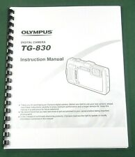 Olympus TG-830 Instruction Manual: 101 Pages & Protective Covers!