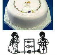 Holy Communion Boy and Girl Kneeling Cutter of Embosser for Cakes