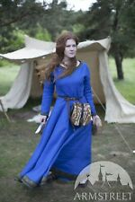 "Viking Dress ""Ingrid the Hearthkeeper"" for LARP, SIZE 0, blue color"