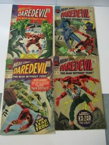 Daredevil 24 25 26 28 1967 Silver age Comic book lot 1st appearance Leap Frog