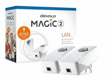 Kit Extensión Powerline - Devolo Magic 2 LAN, PLC, 2400 Mbps, Red Domestica