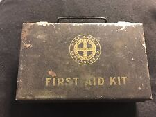 Mine Safety Appliances Co. First Aid Kit Supplies Pittsburgh Pa Metal Box