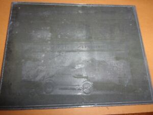 Antique hand engraved copper printing plate Old Santa Barbara