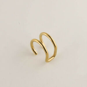 New - EAR CUFF 316 SURGICAL STAINLESS STEEL DOUBLE GOLD COLOUR