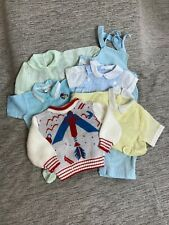 Lot Of Vintage Infant Baby Boy Clothes Spaceship Rocket Sweater Sleeper Romper