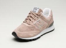 New Balance Women Sneakers W576TTO Made in UK Suede Leather Pink White sz 9.5
