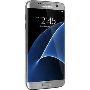 NEW SILVER TITANIUM SPRINT 32GB SAMSUNG GALAXY S7 EDGE G935P PHONE JM06 B