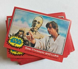 Vintage 1977 Star Wars Trading Cards Series 2 Complete 66 Cards & 11 Stickers