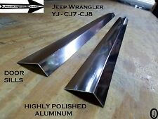 "Jeep Wrangler YJ-CJ7-CJ8 Highly Polished Aluminum - Sill Covers 24"" inch long"