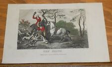 1795 Antique COLOR Fox Hunting Print///THE DEATH by J. Wheble
