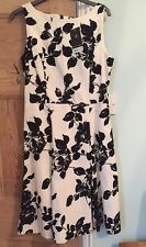 Dorothy Perkins White And Black Floral Dress Size 12 BNWT