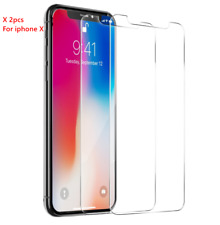 2PCS For Apple iPhone X 10 Premium Screen Tempered Glass Protective Film Guard