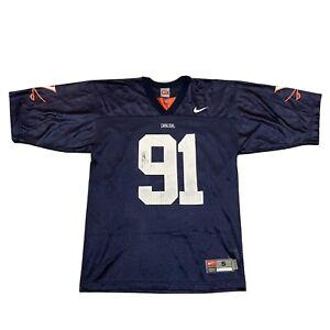 Virginia Cavaliers NIKE Football Jersey #91 Navy Nylon Mesh Small Chris Long